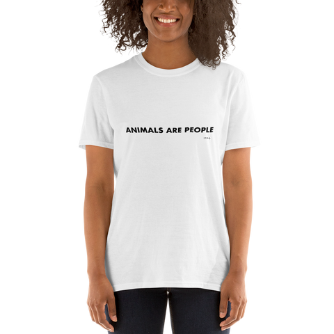Vegan-Tshirt-Animals are People, Unisex T-Shirt-www.verb.ly