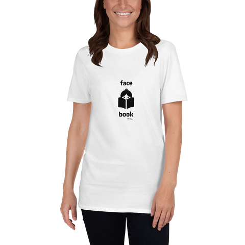 Funny-Tshirt-Face Book, Unisex T-Shirt-www.verb.ly