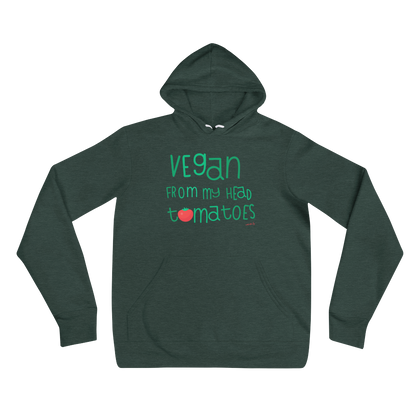 Vegan-Hoodie-Vegan from my head tomatoes – Unisex hoodie-www.verb.ly