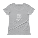 She who is brave is free, Ladies' Scoopneck T-Shirt,t-shirt - verb.ly