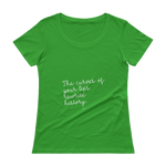 Book-Tshirt-The curves of your lips rewrite history, Ladies' Scoopneck T-Shirt-www.verb.ly