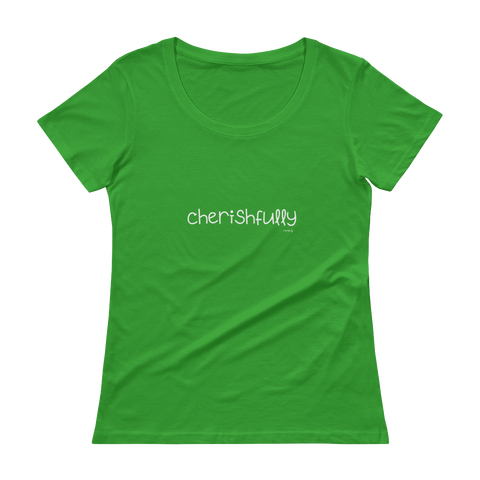 Cherishfully, Ladies' Scoopneck T-Shirt,t-shirt - verb.ly