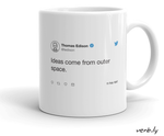 Ideas Come From Outer Space,mug - verb.ly