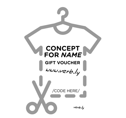 Personal Concept Gift Voucher,Gift Voucher - verb.ly