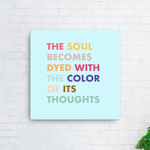 Color Of Your Thoughts,Canvas Print - verb.ly