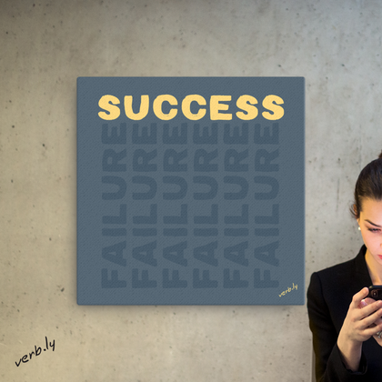Success On Failures,Canvas Print - verb.ly