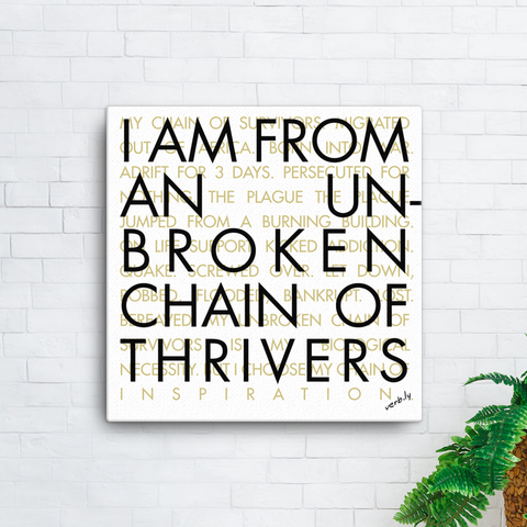Thrivers' Canvas,Canvas Print - verb.ly