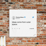 Ideas Come From Outer Space,Canvas Print - verb.ly