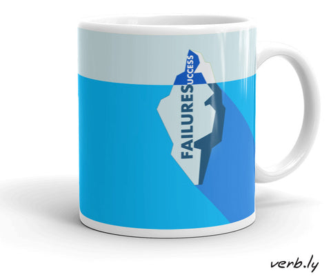 Entrepreneur-Inspiration-Mug-Success Mug – The Iceberg-www.verb.ly