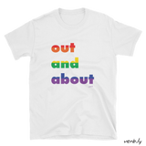 Out and About LGBT+ Unisex T-Shirt,t-shirt - verb.ly