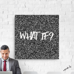 What If?,Canvas Print - verb.ly