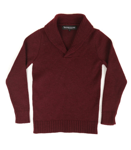 The Hoyland (Claret) - Ross Barr - Designer British Men's Knitwear