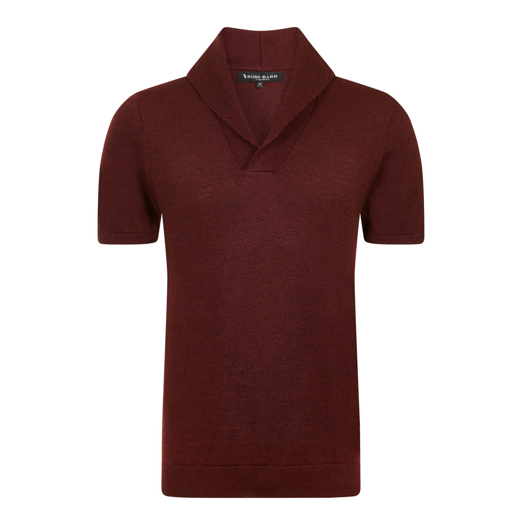 The Elliot (Claret) - Ross Barr - Designer British Men's Knitwear