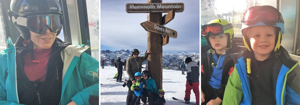Family Skiing trip at Mammoth Mountain
