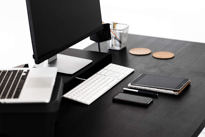 minimalist desk laptop docking station