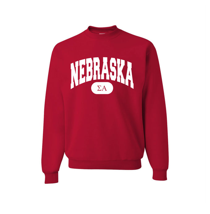 Sigma Alpha - Nebraska True Red Crewneck