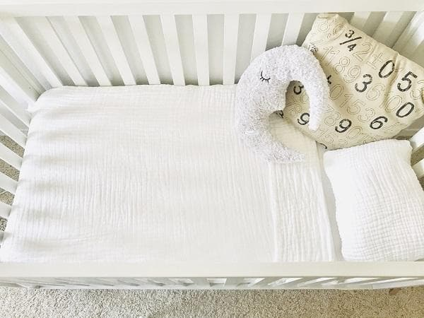 Crib Blanket Bright White