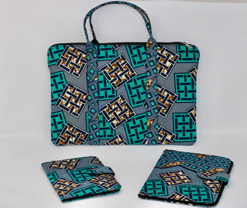 AFrik Ankara Laptop Bag Set2
