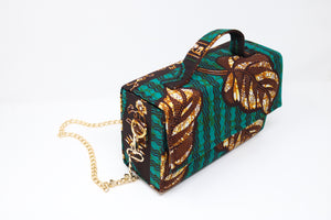 Kelechi ankara box bag
