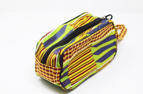 Kente' Ankara Cosmetic/travel bag