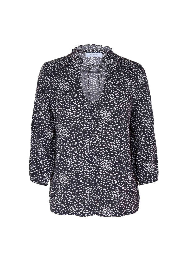 Edie Sweetheart Blouse Black