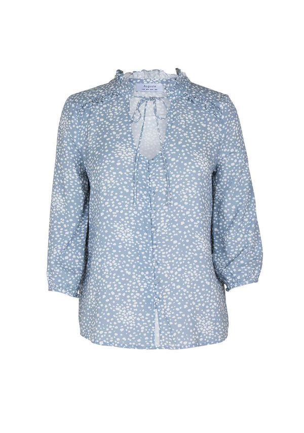 Edie Sweetheart Blouse Dusty Blue