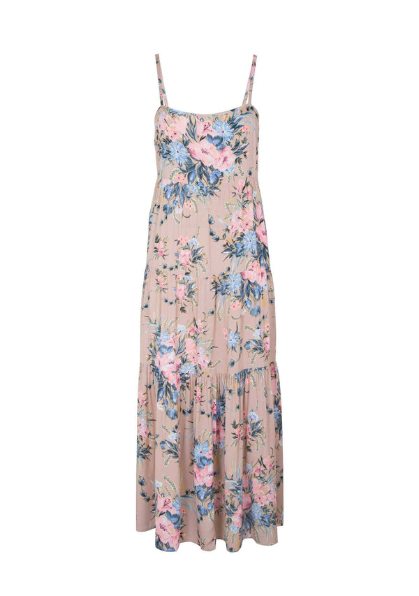 Scarlett Wrap Maxi Dress Blush