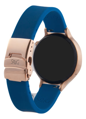 Mens Larger 46mm Moto 360 SnuG 22mm watchband with Bonus Free matching bumper case