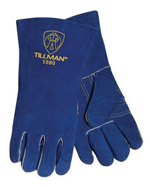 Tillman 1080 Blue Side Split Cowhide Stick Welding Gloves