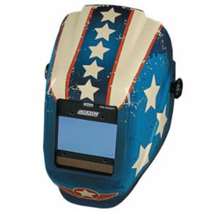 Jackson Safety 46101 WH40 Insight Halo X Variable Welding Helmet, GN; 9-13, Stars & Scars (RD WH BL)