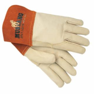 Memphis Glove 4950 Mig/Tig Welders Gloves, Premium Grade Grain Goatskin, Beige, 12 pack, Various Sizes