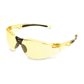 Honeywell UVEX A802 Safety Eyewear, Hard Coat Anti-Scratch, Amber Lens, Amber Frame (bulk pricing available)