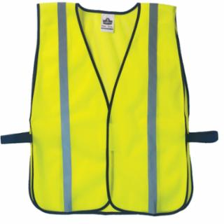 Ergodyne GloWear 8020HL Non-Certified Standard Safety Vests, One Size, Lime