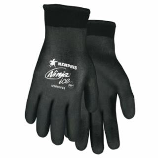 Memphis Glove N9690FC, Ninja Ice Gloves, Large, Black, 1.083 in, 1.083 in, Fully Coated, Various Size