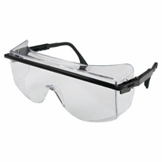 Honeywell UVEX P/N S2500C, Astro Over-The-Glass Safety Spectacles, Clear Lens, Anti-Fog, Black Frame