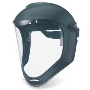 Uvex Bionic Face Shield S8500, Uncoated, Clear/Black Matte