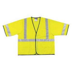 River City  VCL3SL Luminator Safety Vests, Fluorescent Lime, Various Sizes