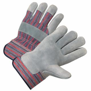 Anchor Brand Cowhide Leather Palm Gloves, Large, Canvas, Leather, Cowhide, Pearl Gray (bulk pricing available)
