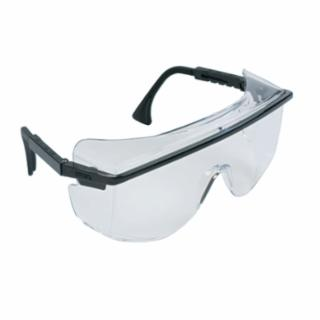 Honeywell UVEX P/N S2500, Astrospec OTG 3001 Eyewear, Clear Lens, Anti-Scratch, Hard Coat, Black Frame