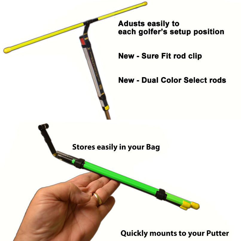 the putting stroke teacher with storage bag