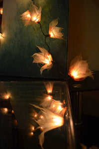 natural fairy lights made from real leaves