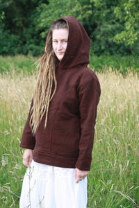 Wollkapuzenpullover - Redwood