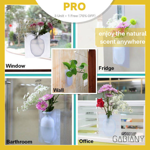 Creative Wall Suction Vase