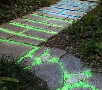 "Image of Glow in the Dark Garden Pebbles - 1 Pack ""50 PCS"""