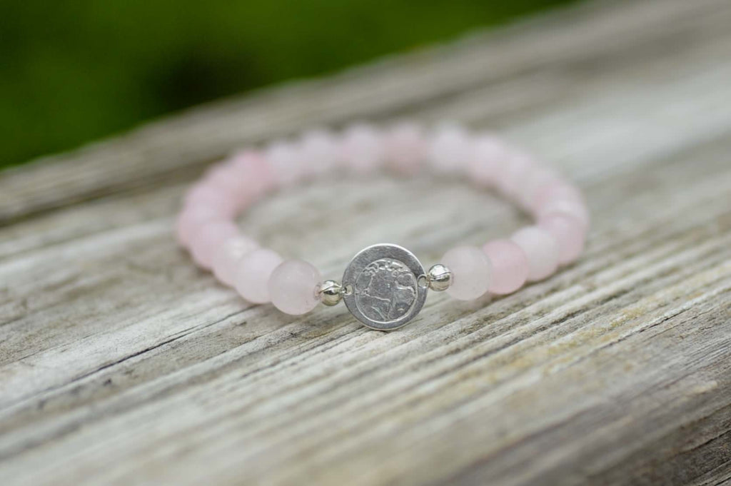 BE ONE. BE KIND. ROSE QUARTZ BRACELET