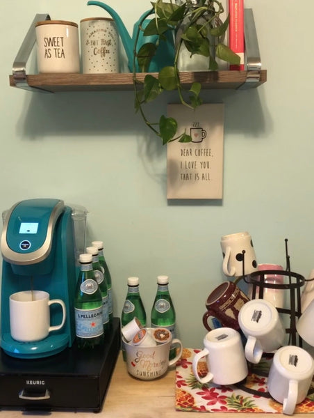 Coffee--My Hygge and My Caffeination Station Make-Over