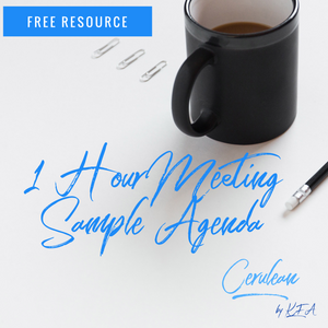 1 Hour Meeting Sample Agenda