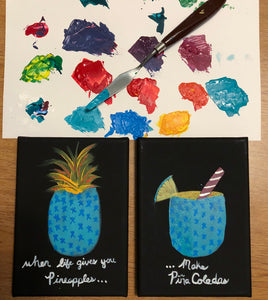 When Life Gives You Pineapples...Paintings Set