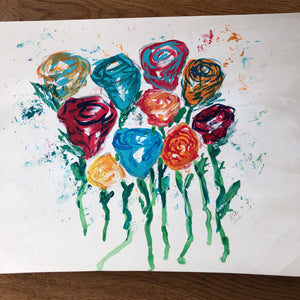 Abstract Colorful Roses