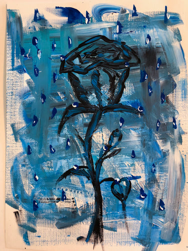 Cerulean Rose and Rain